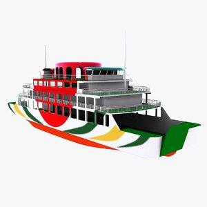 3d model cruise ferries