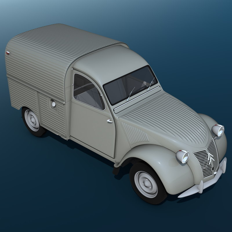 3d citroën 2cv azu cars model