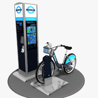 Barclays Cycle Hire 3D