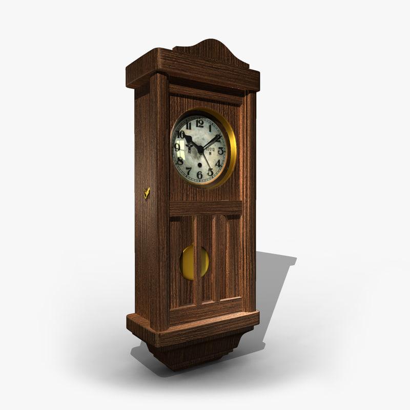 3d 3ds old clock