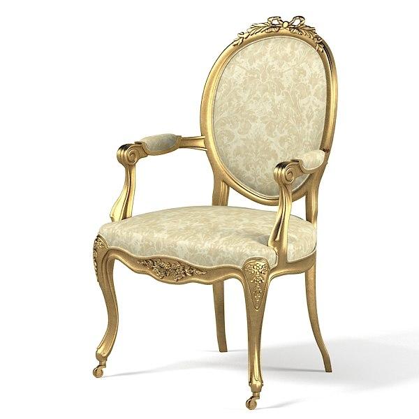 Versailles Nursing Armchair 3d Obj