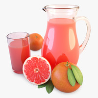 Jug And Glass Of Juice Orange