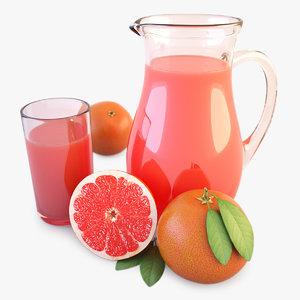 obj jug glass juice
