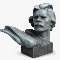 maxim gorky man bust 3d model