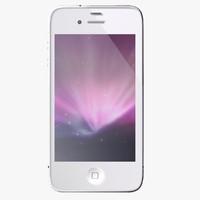 3d iphone 4 s white model