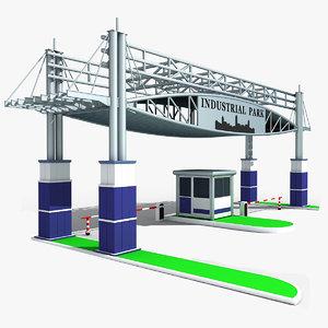 industrial gateway 3d model