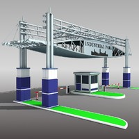 industrial gateway 3d model
