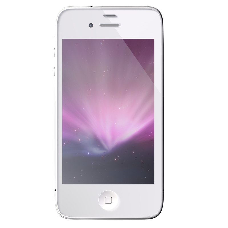 3d iphone 4 s white model