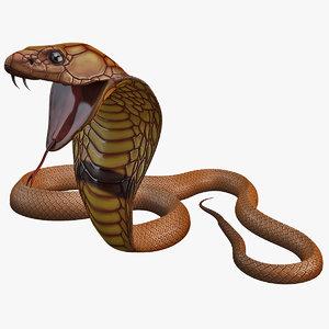 3d model snake cobra pose 4