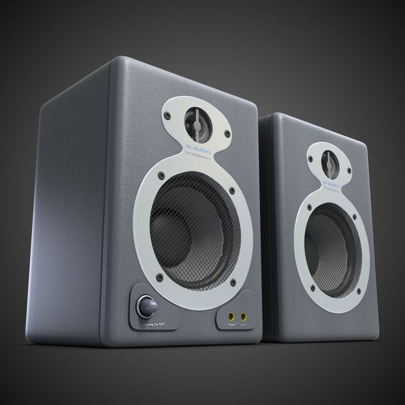 music speakers 3d model