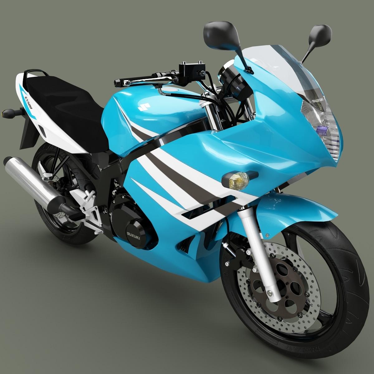 suzuki gs 500f 3d 3ds