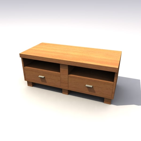 3d model of wooden tv stand