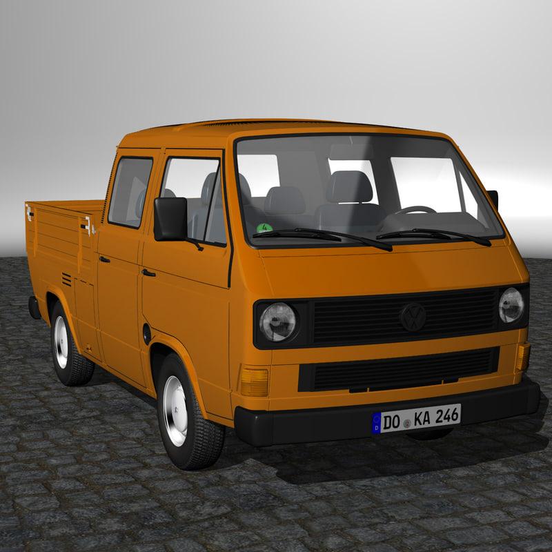 t3 crewcab 3d model