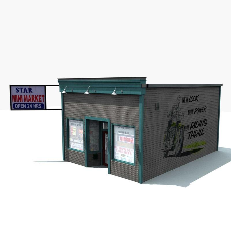mini market store 3d model