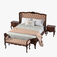 3ds max louis xv 15l-880-1 bedroom furniture