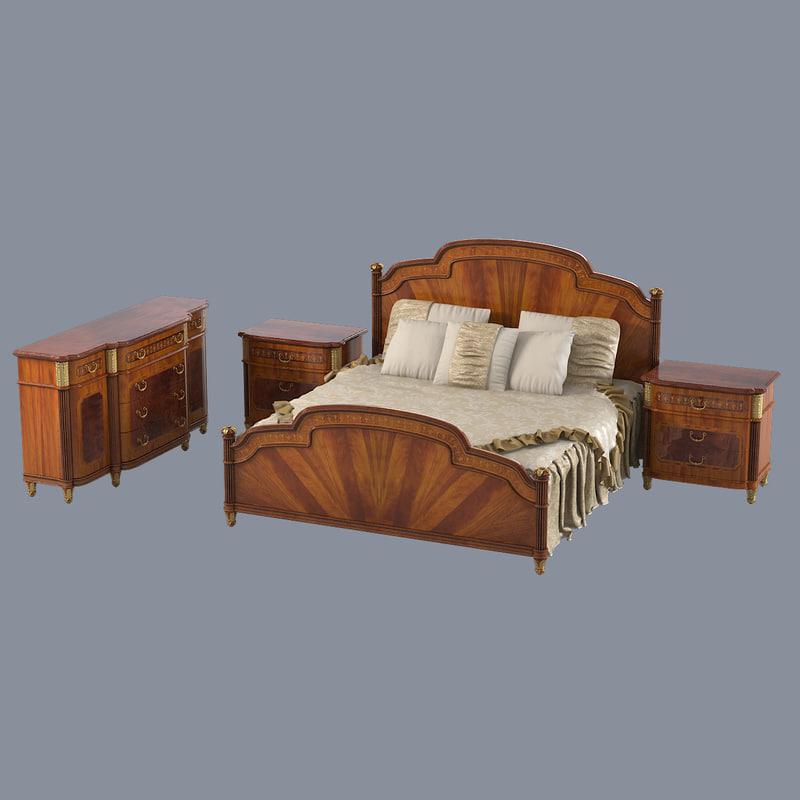 armando rho bedroom set 3d model