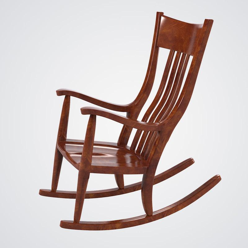 3d model mesquite rocking chair