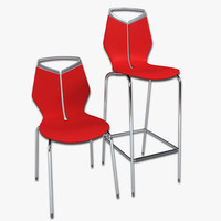 Domino Chair and Bar Stool