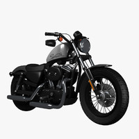 3d model harley davidson sportster forty-eight