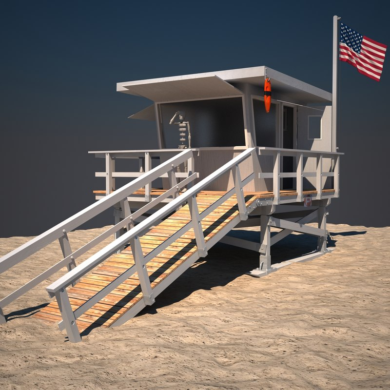 3ds max lifeguard station life
