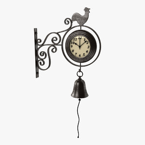 3d model outdoor clock