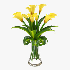 x calla flower vase