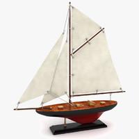 3d model sailboat decoration boat