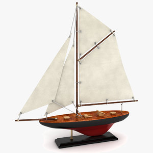 3d model sailboat decoration boat