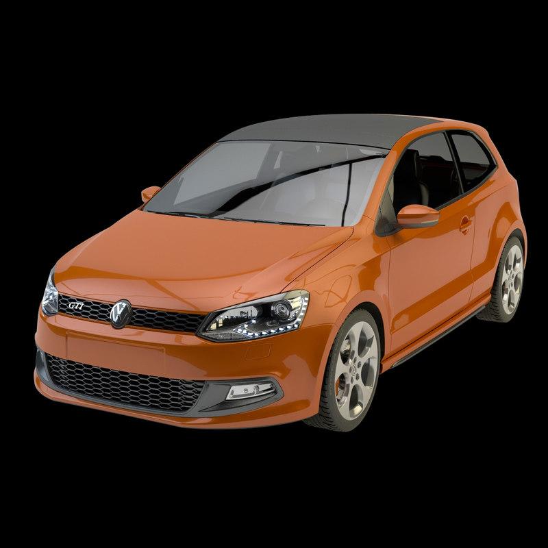 3d volkswagen polo gti model