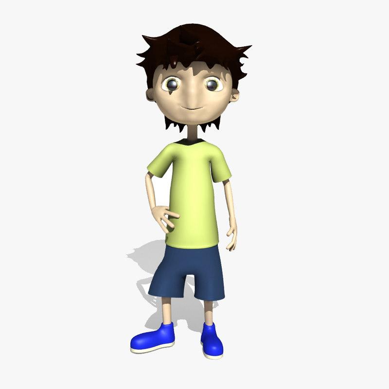 max rigged comic boy character