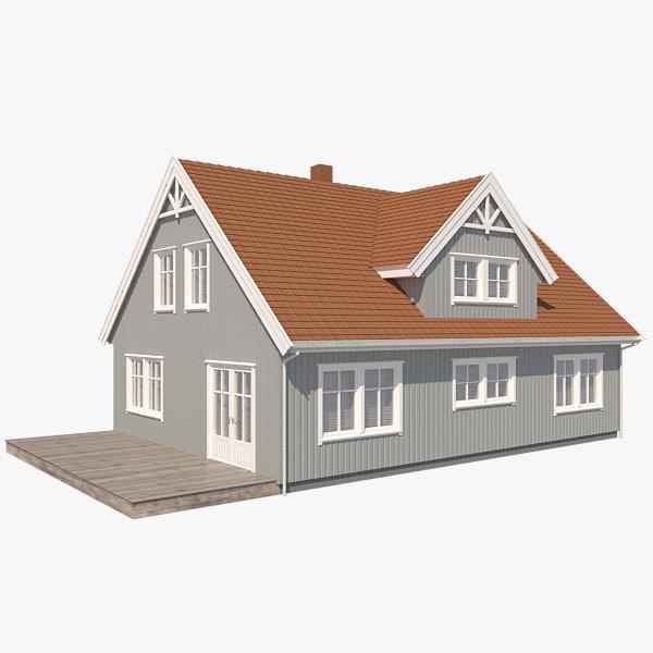 realistic house korona nb 3d max