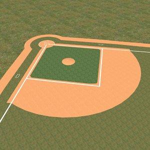 max baseball field diamond bases