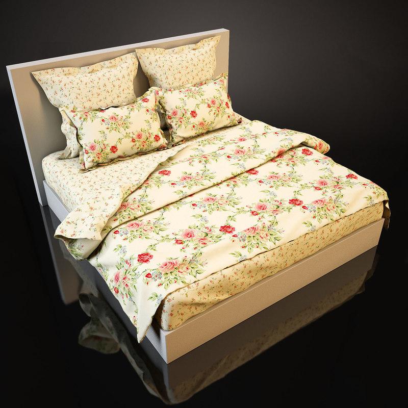 bedcloth bed obj