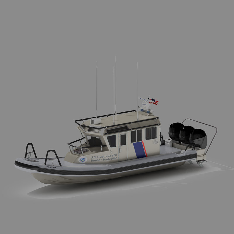 3d interceptor class safe boat model