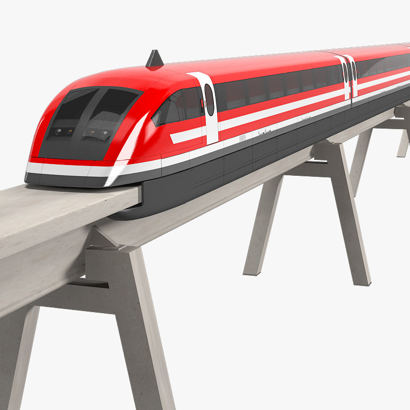 maglev train magnetic 3d max