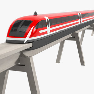 maglev train magnetic 3d max