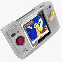 3d model neo geo pocket color