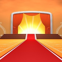 red carpet stage 3d model