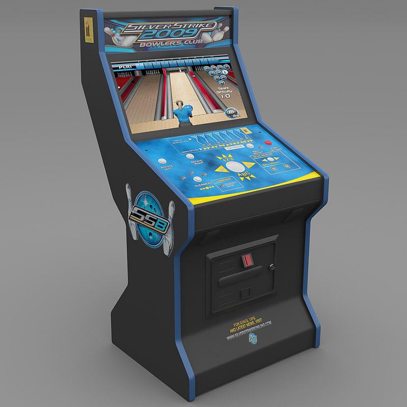 silver strike bowling arcade 3d model
