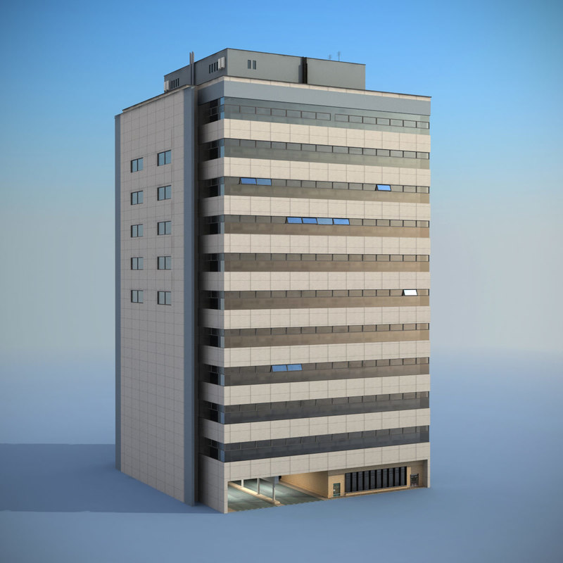 3d model building office