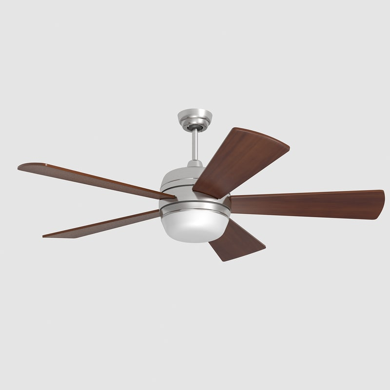 3d model ceiling fan lamp lights