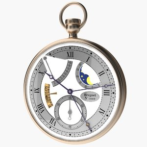 3d model breguet stopwatch vol 5