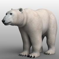 3d polar bear model