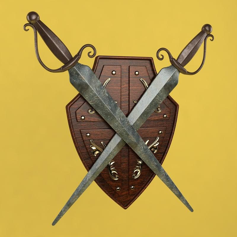 shield sword 3d 3ds