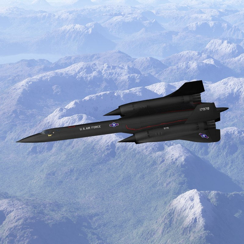 3d sr-71a blackbird model