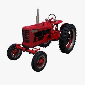 3d tractor wheels model