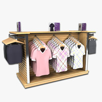 clothing womens golf shirts 3d model