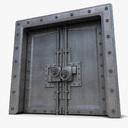 Metal Huge Door Textured