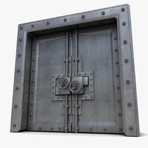 metal door 3d 3ds