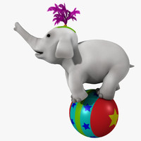 3d cartoon baby elephant